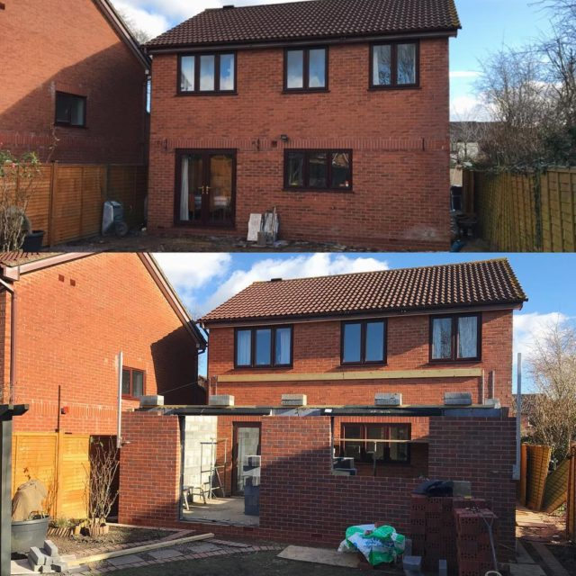 2 weeks into this rear single storey extension and makinghellip
